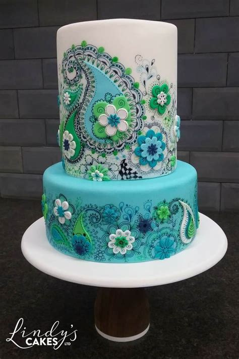 paisley cake decorations stacked celebration and cakes to inspire you by