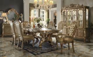7 Piece Patio Dining Set by Gold Patina Dresden Dining Set By Acme Furniture