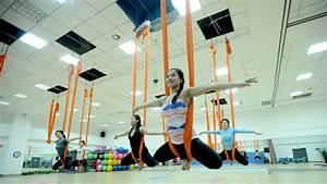 Aerial Yoga Swing Poses