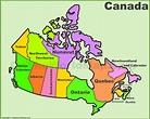 Canadian Provinces Map - Pinotglobal.com
