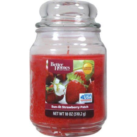 better homes and gardens candles better homes and gardens 18 oz sun lit strawberry patch