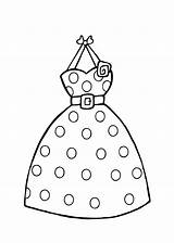 Coloring Pages Dress Printable Clothing Colouring Dresses Dot Polka Clothes Clipart Barbie Sheets Dots Template Princess Books Summer Templates Stores sketch template