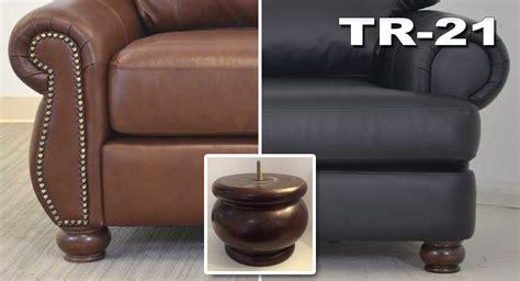 furniture legs options  leather sofa company