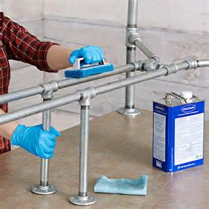 Kitchen Island Legs Metal Pipe Frame Harvest Table