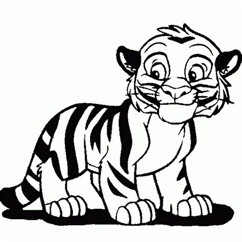Coloring Tiger by Tiger Coloring Pages
