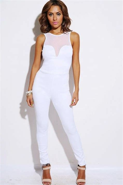 all white jumpsuit for womens white jumpsuits and rompers fashion ql
