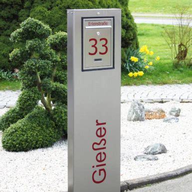 standbriefkasten mit hausnummer design briefkastens 228 ule briefkastenstele mit hausnummer