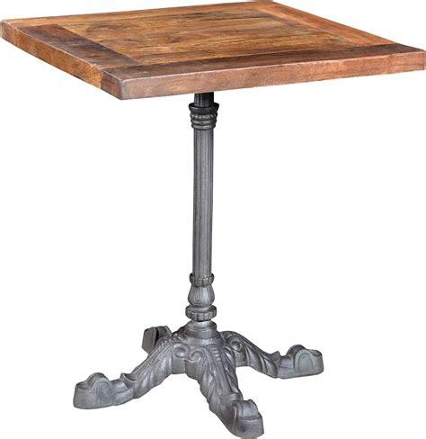 pied en fer table bistrot rectangulaire pieds en fer forg 233