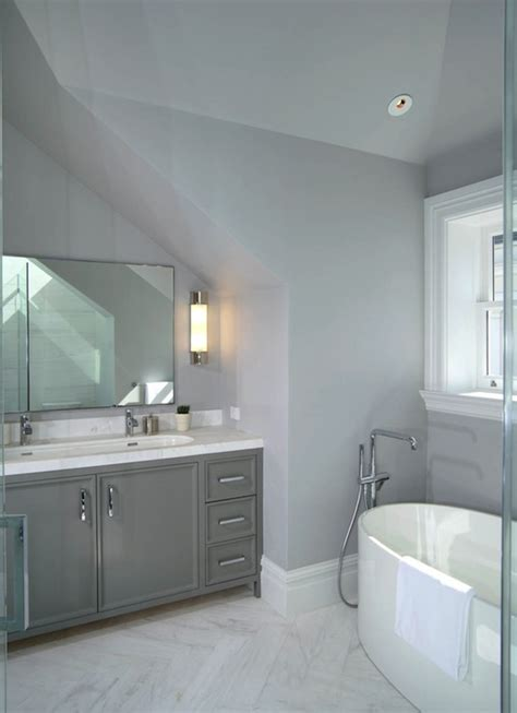 herringbone marble floor contemporary bathroom