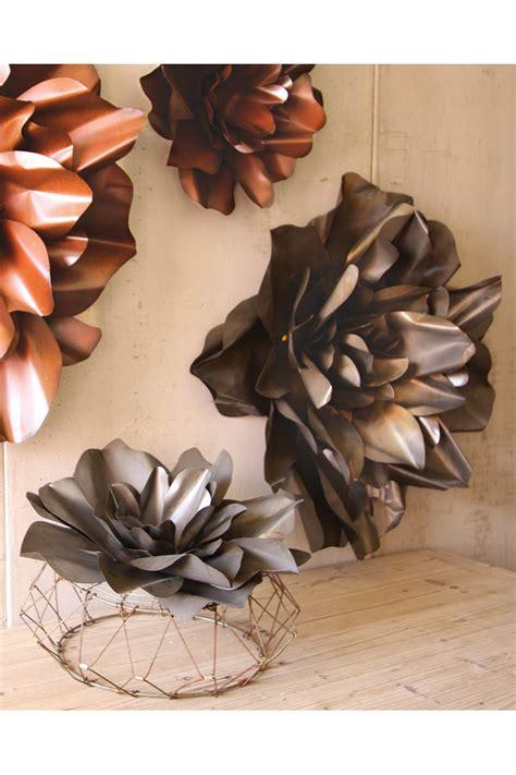 raw metal flower wall hangings flower sculpture metal flower wall art