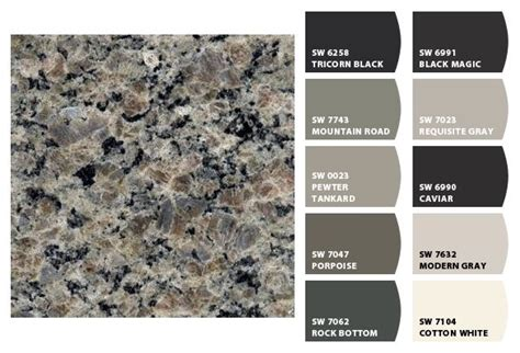 paint color to match granite colorsnap by sherwin williams home colors to go with new caledonia granite color inspiration