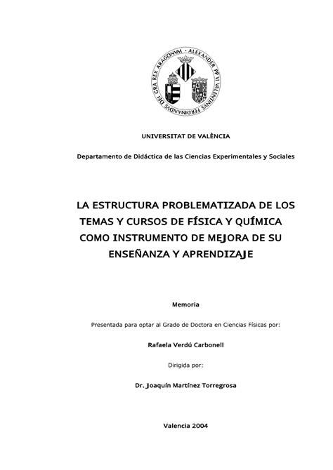 pdf la estructura problematizada de los temas y cursos de f 237 sica y qu 237 mica como instrumento de