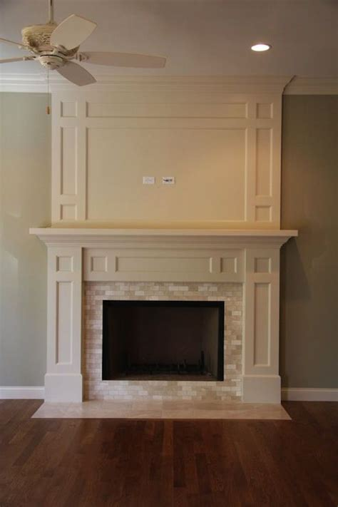 20 best ideas about subway tile fireplace on