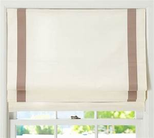 grosgrain ribbon cordless roman shade pottery barn With cordless roman shade pattern