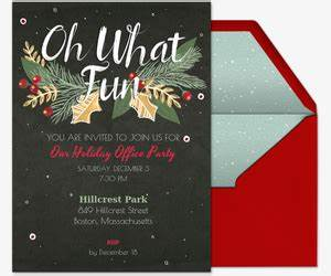 fice Holiday Party line Invitations
