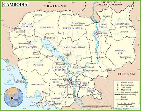 cambodia map printable