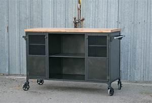 Industrial Bar Cart, Modern Kitchen Island - Combine 9