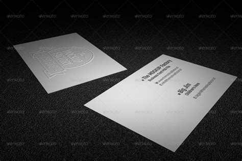 Photorealistic Embossed Business Card Mockup By