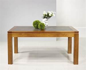 Table Bois Massif Contemporaine : table bois plateau ceramique ~ Teatrodelosmanantiales.com Idées de Décoration