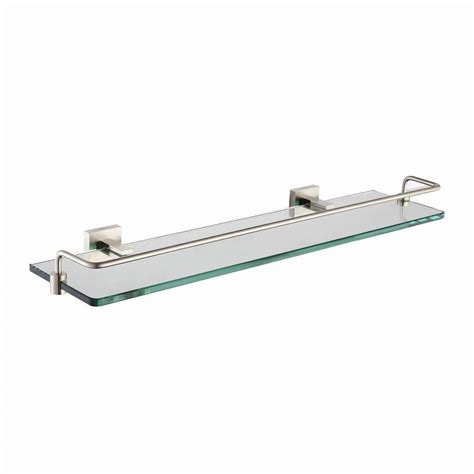 kraus aura bathroom shelf  railing  brushed nickel
