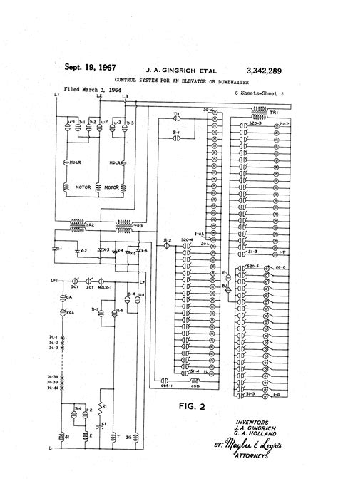 patent us3342289 system for an elevator or dumbwaiter patents