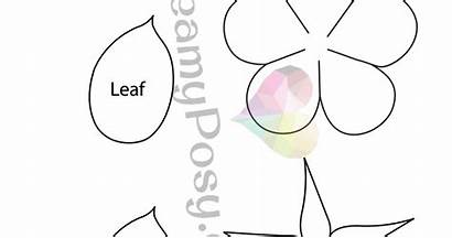 Template Paper Rose Easy Flower Craft Flowers