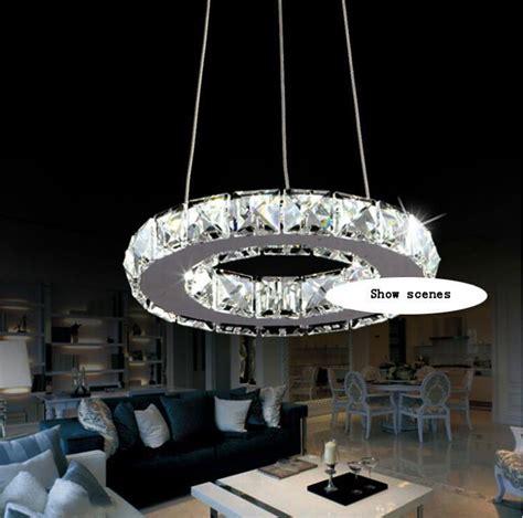 kronleuchter modern led silber kristall ring gef 252 hrt kronleuchter kristall le licht leuchte modern led kreis licht in