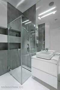 Salle de bain petite douche solutions pour la decoration for Petite salle de bain douche