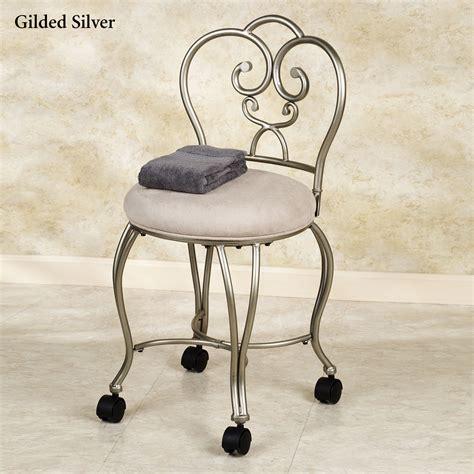 silver vanity stool rolling vanity stool homesfeed
