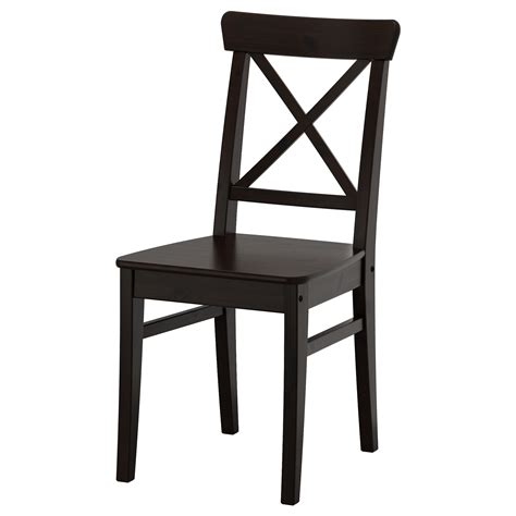 ingolf chair brown black ikea