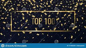 Top, 100, Poster, Gold, Confetti, Is, Falling, Abstract