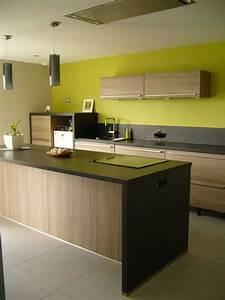 Peinture Vert De Gris : cuisine vert anis et gris avec beau peinture cuisine vert ~ Melissatoandfro.com Idées de Décoration