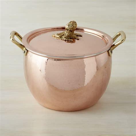 ruffoni historia copper artichoke handle stock pots williams sonoma