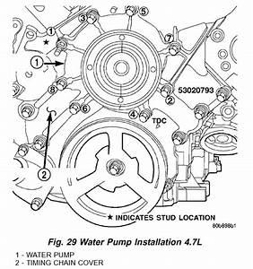 Torque Specs For A Water Pump  2004 Dakota 4 7l