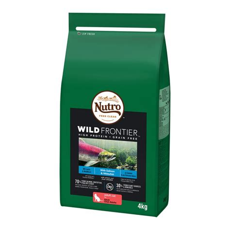dry cat frontier wild salmon complete nutro adult whitefish 4kg food