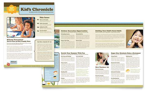 microsoft newsletter child development school newsletter template word publisher