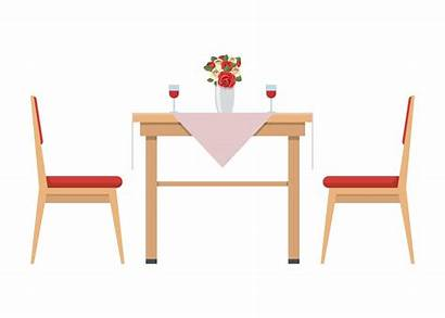 Table Dining Chairs Vector Clipart Vecteezy 2x