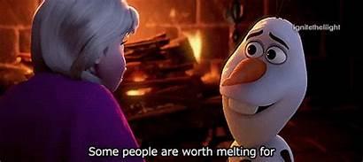 Olaf Frozen Melting Worth Quotes Disney Anna