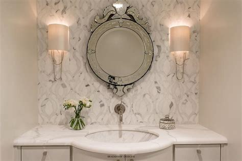 Round Gray Vanity Mirror Design Ideas