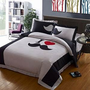 mustache bedding | High thread count Gray Mustache bedding ...