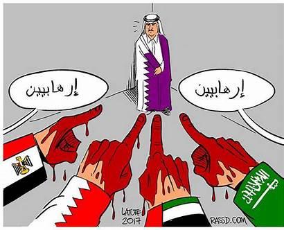 Qatar Crisis Gulf Cartoon Political Arab Diplomatic