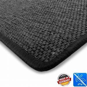 grand tapis noir aspect sisal doux entretien facile With grand tapis noir