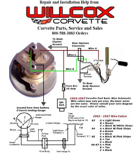 Corvette Fuel Gauge Wiring Schematic Willcox