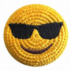 Artissimo Designs San Diego Emoji Sunglasses Crocheted Footbag Adventure Trading