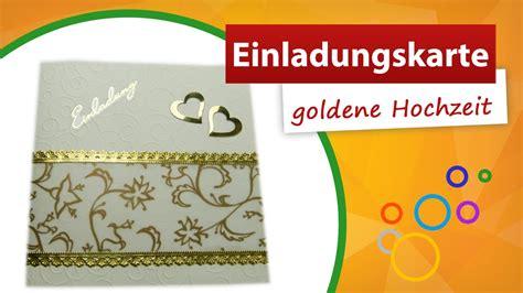 einladungskarte goldene hochzeit basteln karten selber