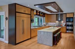 stylish ceiling designs that can change the look of your home - Wooden Kitchen Island