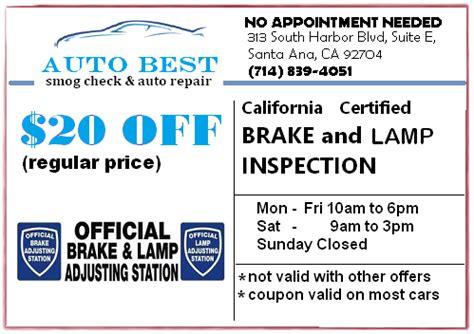 brake and light inspection brake light inspection autobest santa