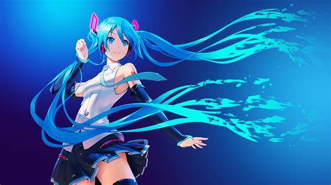 Popular Anime Wallpaper - wallpaper hatsune miku anime vocaloid hair