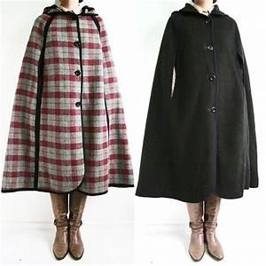 Vintage 70s Stunning Check Pattern  U0026 Black Reversible Wool
