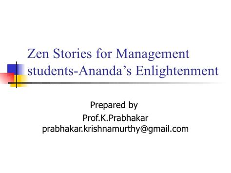 enlightenment zen management stories slideshare students